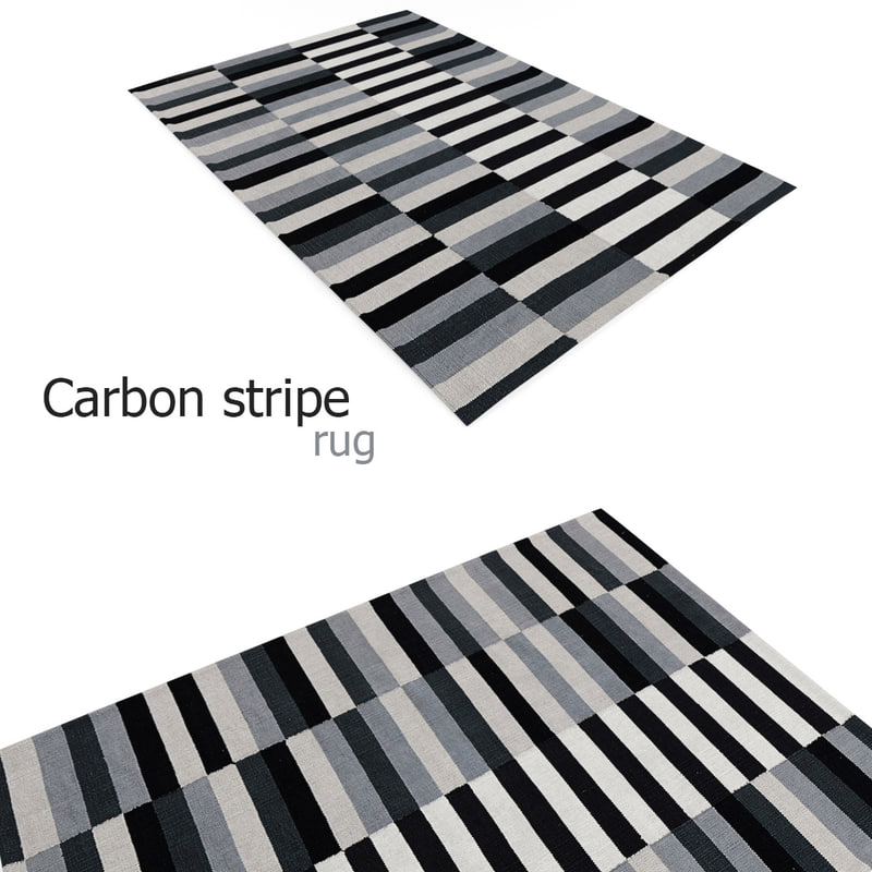 max carbon stripe rug