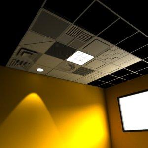 drop ceiling grid setting 3d 3ds