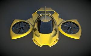heli designed 3d obj