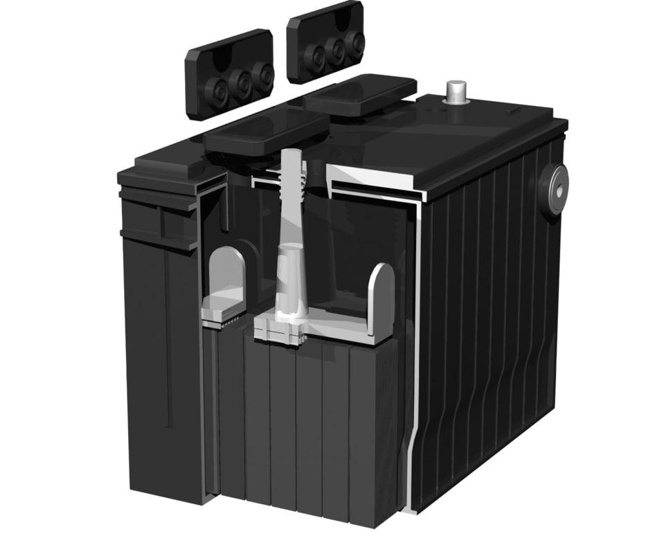 lightwave car battery cutaway