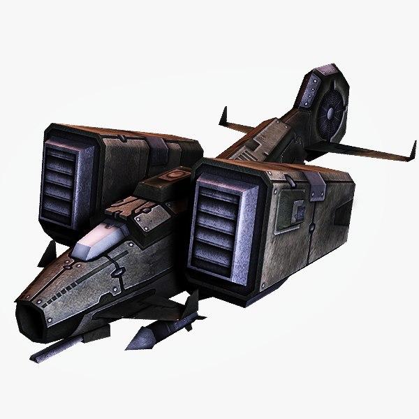 3d model sci-fi jet fighter