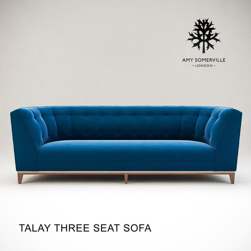 talay seat sofa 3d max