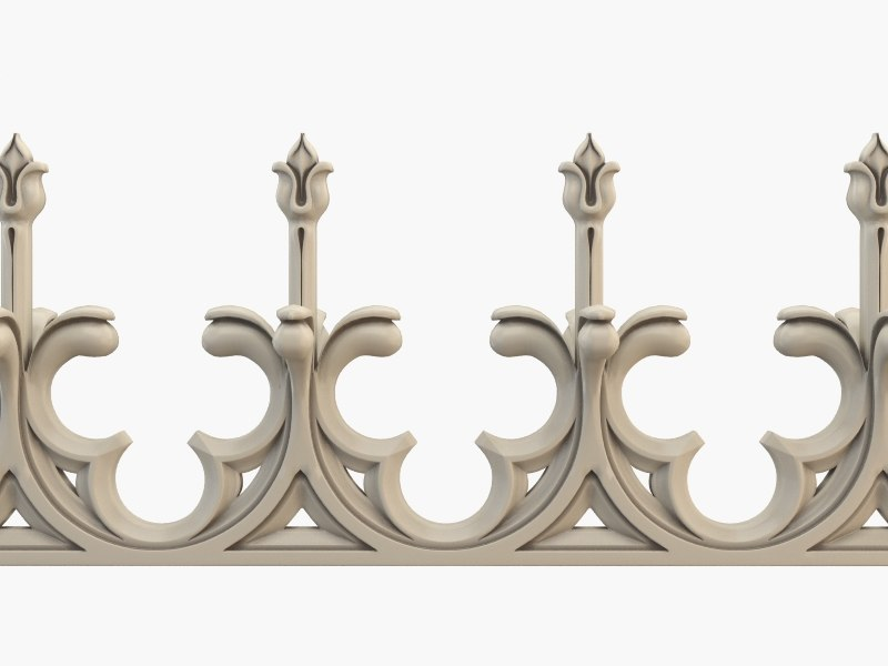 3ds max fence gothic