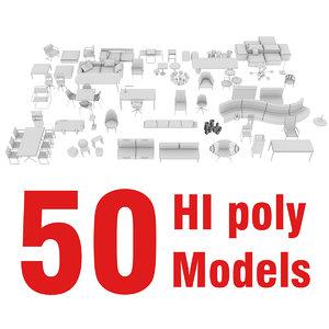 3d model 50 furniture