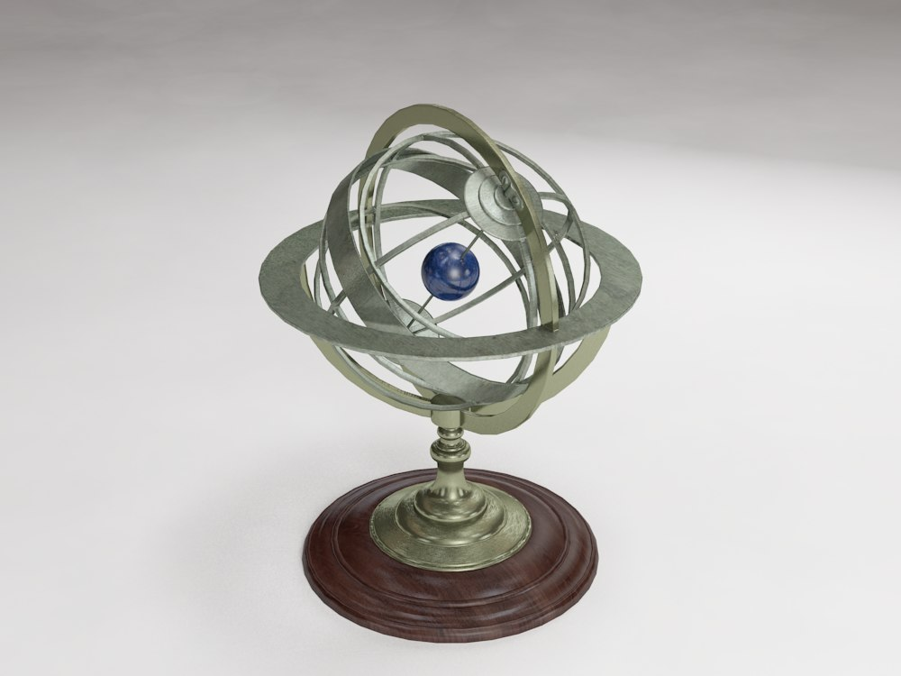 decorative nautical compass 3d model