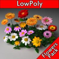 LowPoly FlowersPack