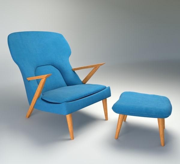 little bear chair 3d max