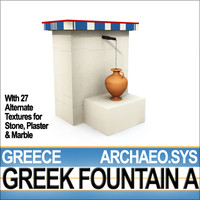 ancient greek fountain 3d model