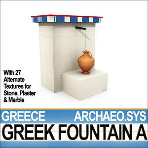 ancient greek fountain 3d model