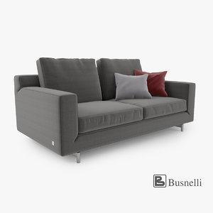 3d busnelli taylor sofa 2 model