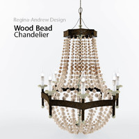 3d model wood bead chandelier