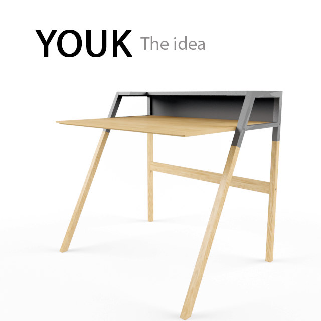 3ds max computer table youk