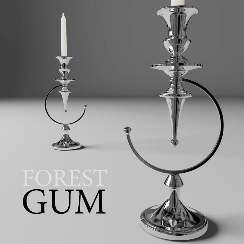 3d model candlestick forestgum