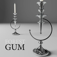 3d model candlestick forestgum