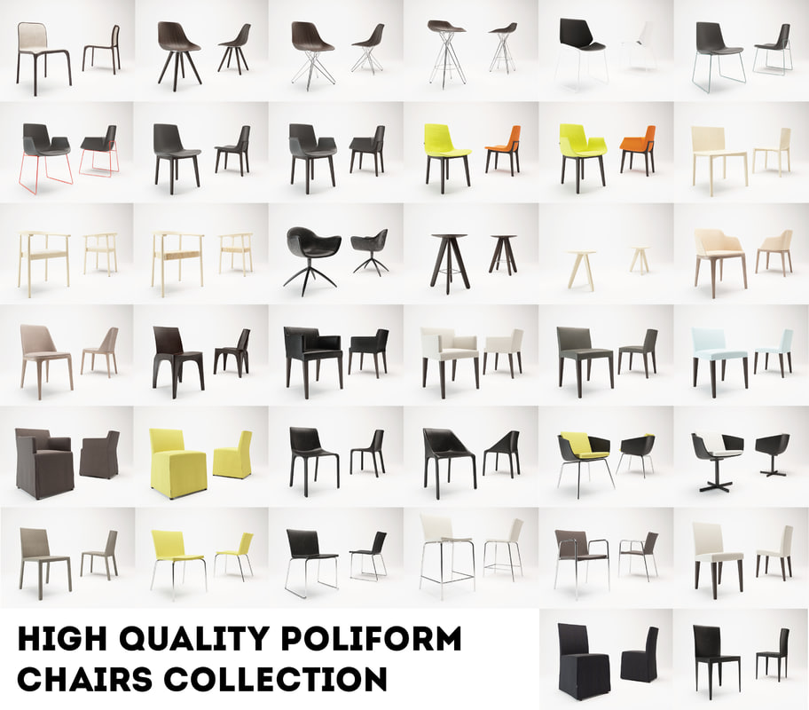 chair poliform 3d model