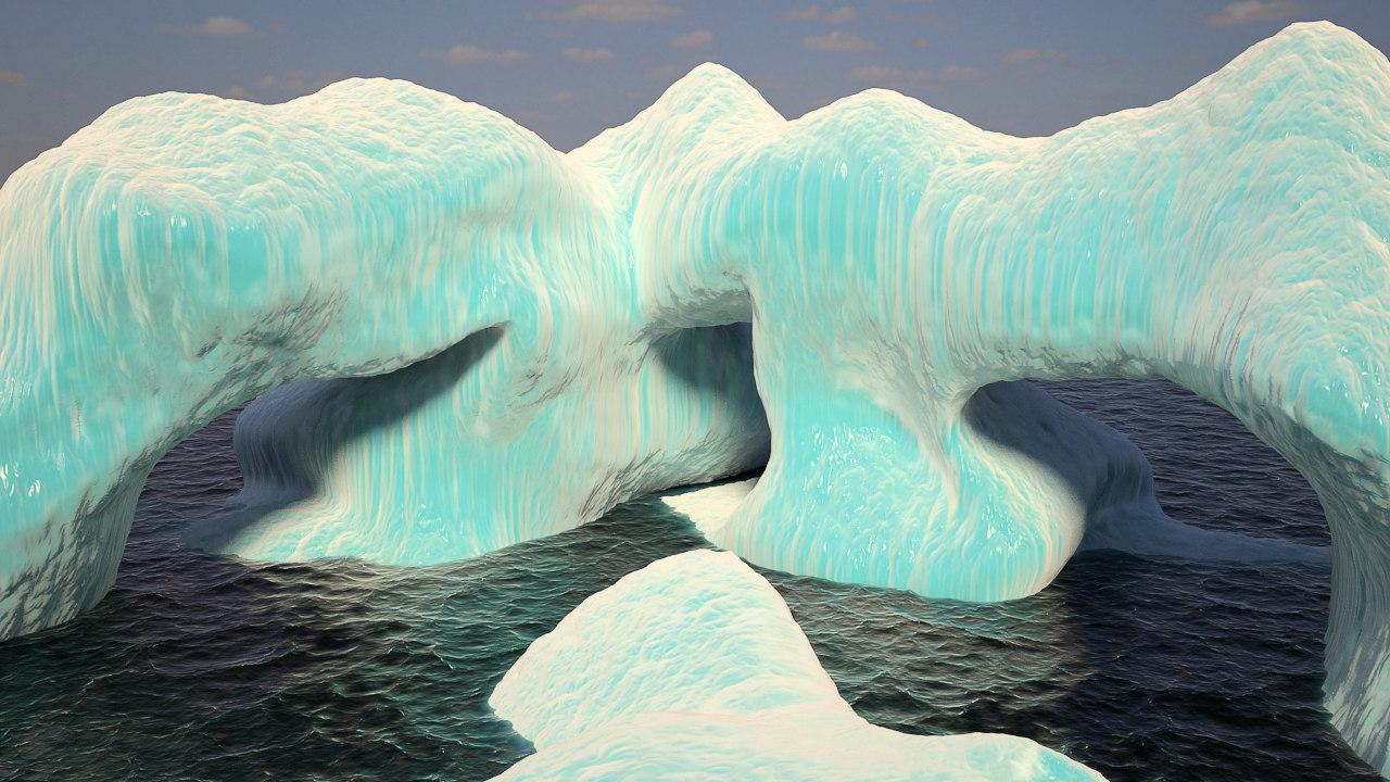 3ds max iceberg ocean