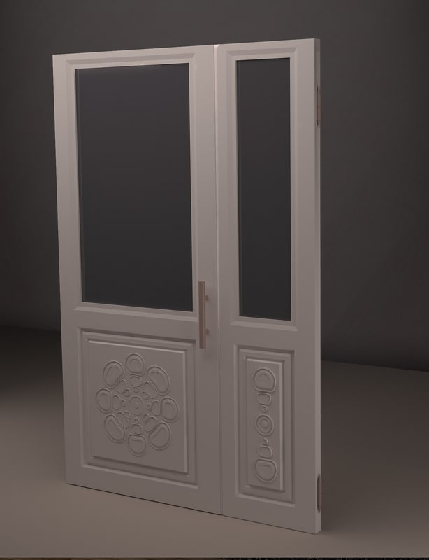 door relief stylized 3d model