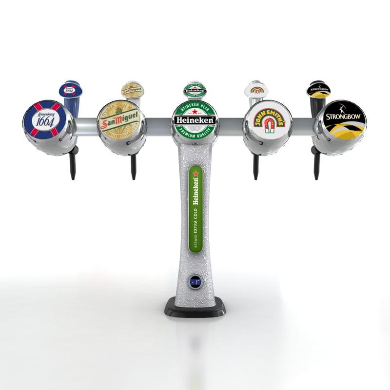 beer tap fonts 3d model