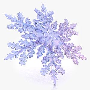 3d snow flake