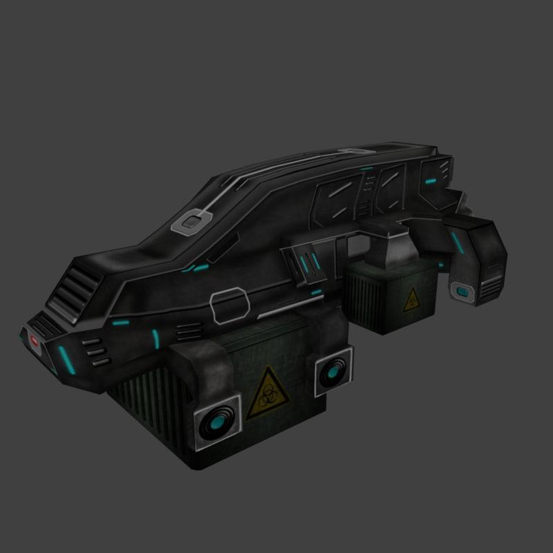 3d spaceship transporter