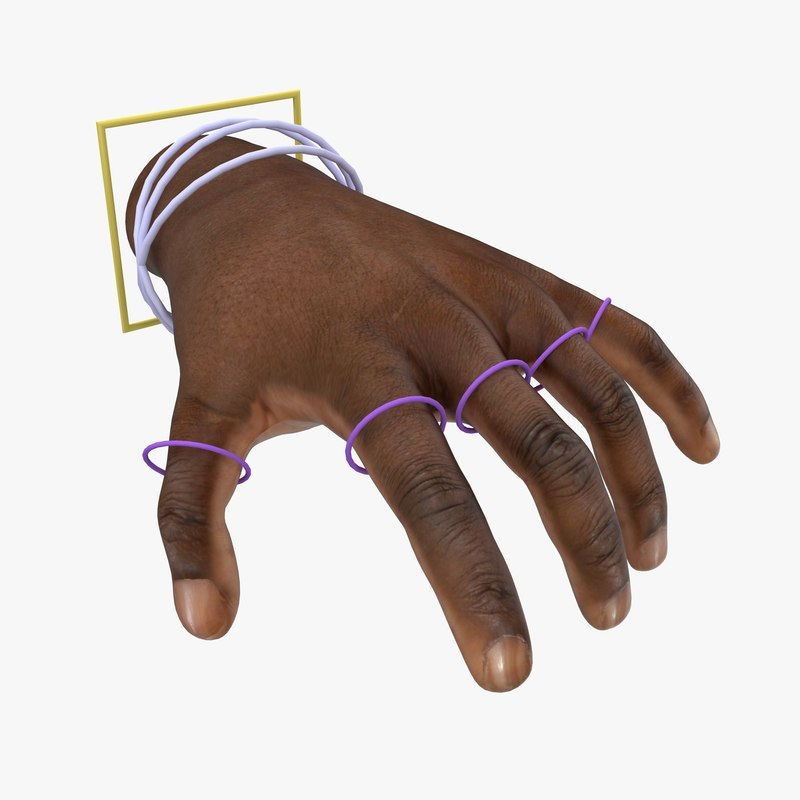3d hand rigged poses skin