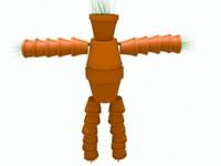 3d plant pot man model