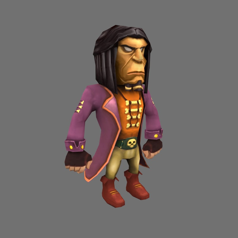 max low-poly pirate