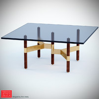 helix coffee table 3d obj