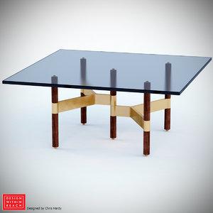 helix coffee table 3d obj