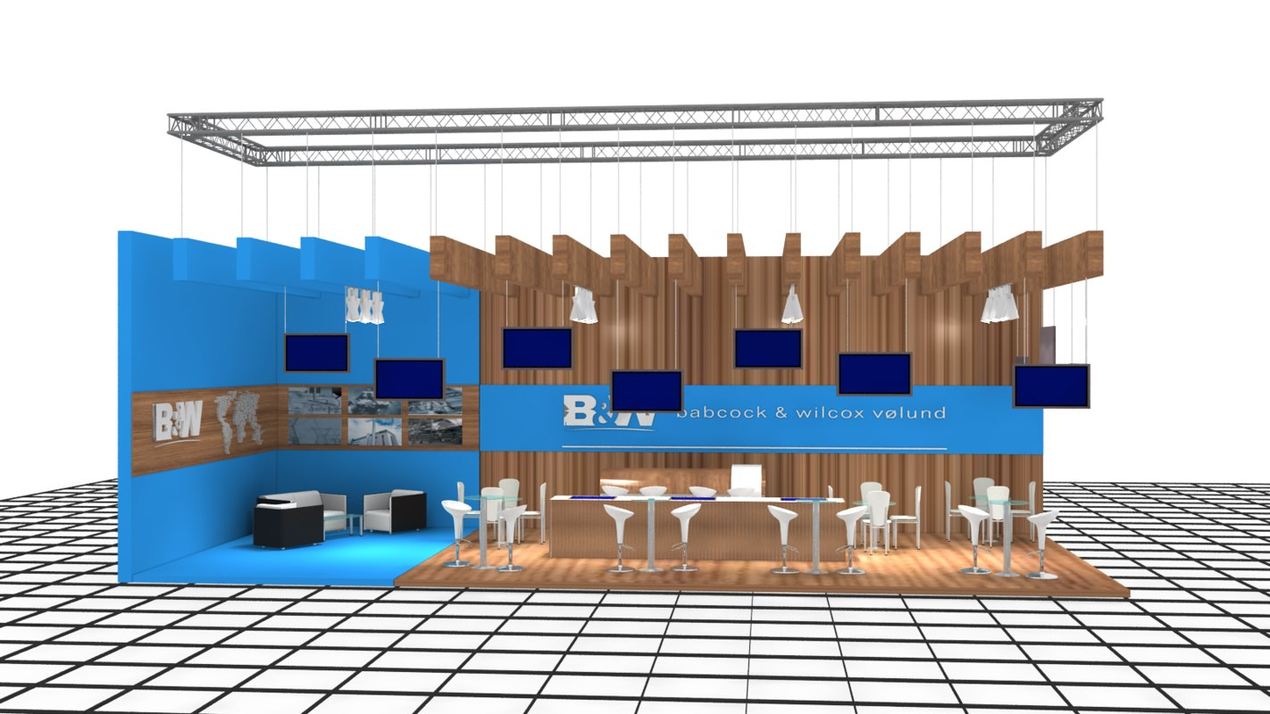 3d b m exhibition stand