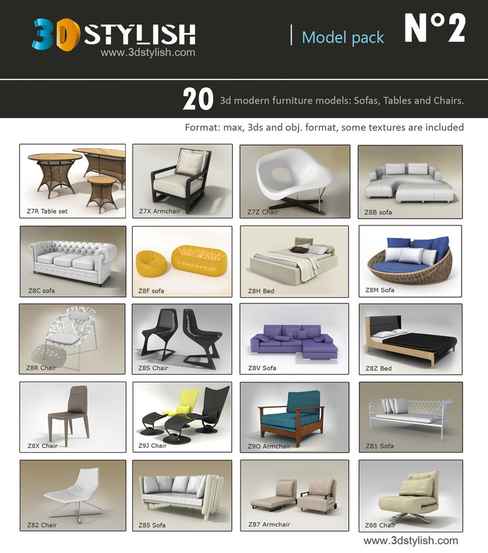 3d 20 furniture pack