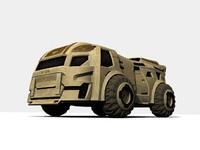3d transport sci-fi model