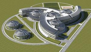 educational buildings 3d max
