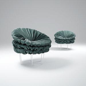 3d model june-armchair