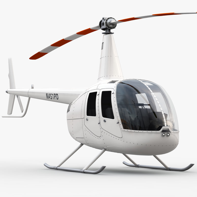 robinson helicopter interior 3d max