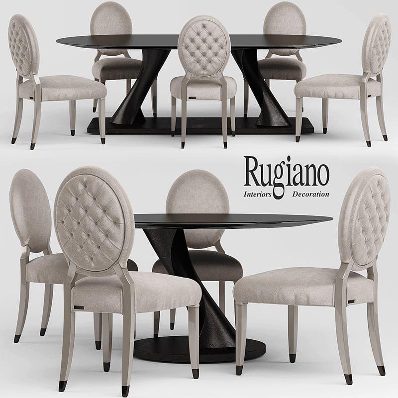 3d chair table rea