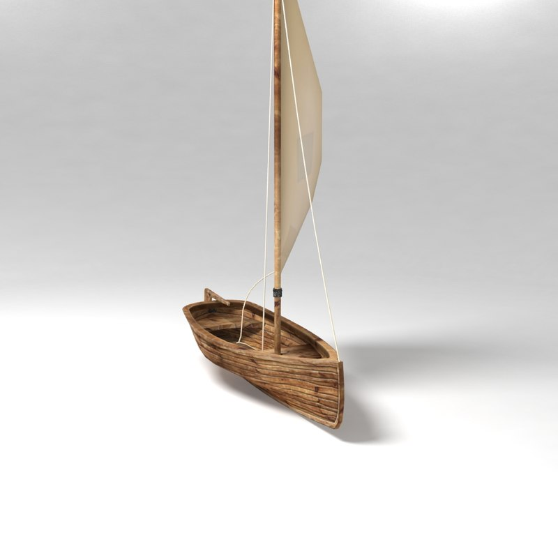 sail boat polys 3d model
