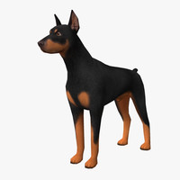 3d model doberman edge loop