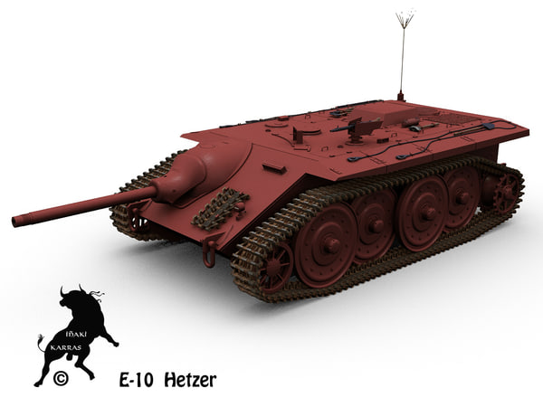 3d e-10 panzer german