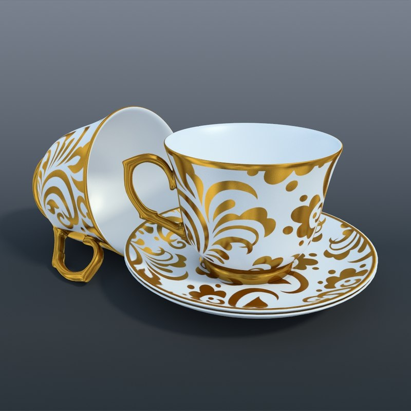 obj tea set