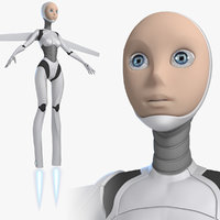 3d model female android