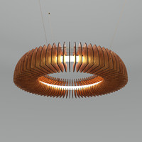 hanko large ceiling light 3d model