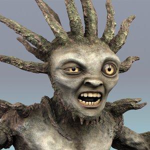 3d model creature rigged morph
