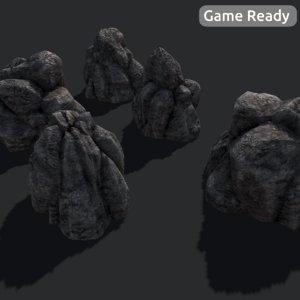 rock large 3d model
