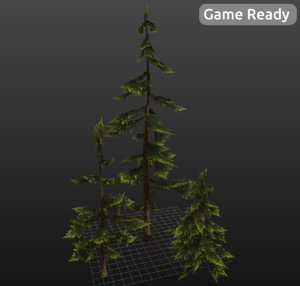 3d trees branches