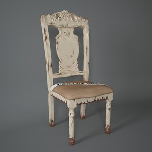 3d model vintage chair harlem shameless