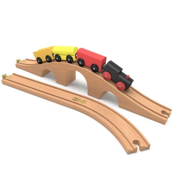 railroad toy cars 3d max