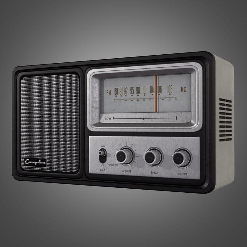 3d vintage radio ready model