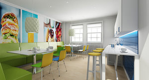 office tea point interior 3d model
