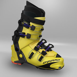 3d ski boot model